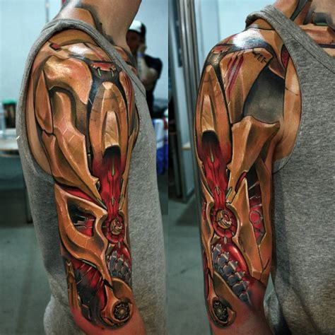 3d tattoo designs arm great cyborg armor looks so great curated