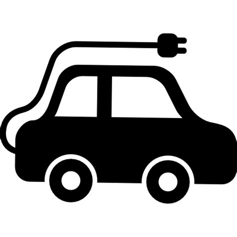 electric vehicles symbol electric car side view free transport icons