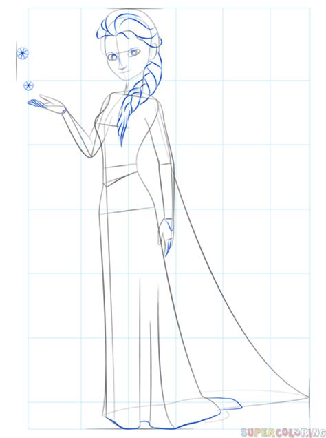 doodle draw how to draw elsa how to draw elsa from frozen step by step drawing tutorials