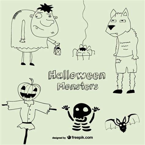Imagenes De Halloween A Blanco Y Negro | dibujos de halloween en blanco y negro descargar