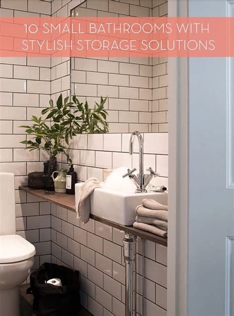 stylish bathroom storage roundup 10 small bathrooms with stylish storage curbly