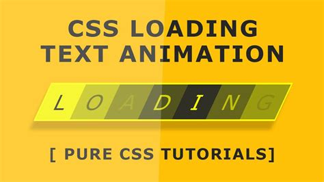 css tutorial text css loading text animation tutorial pure css tutorials