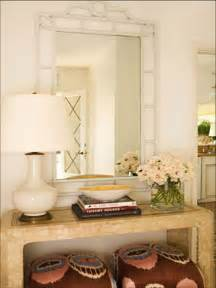 Foyer table and mirror decorating ideas images in entry beach design