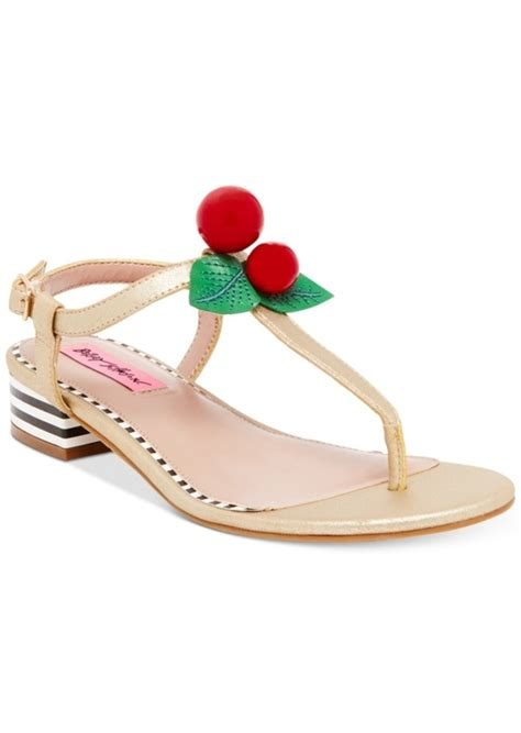 sandals s shoes betsey johnson betsey johnson cherry sandals s