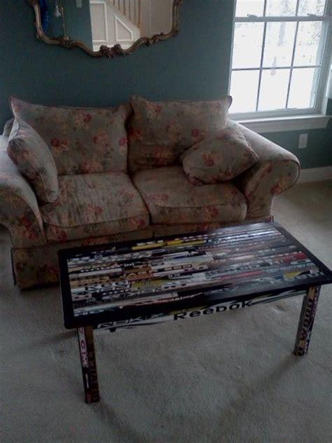 custom made hockey stick coffee table by hockey house