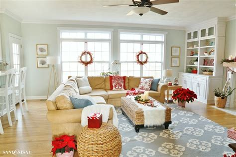 red blue room winterberry red white and blue christmas family room