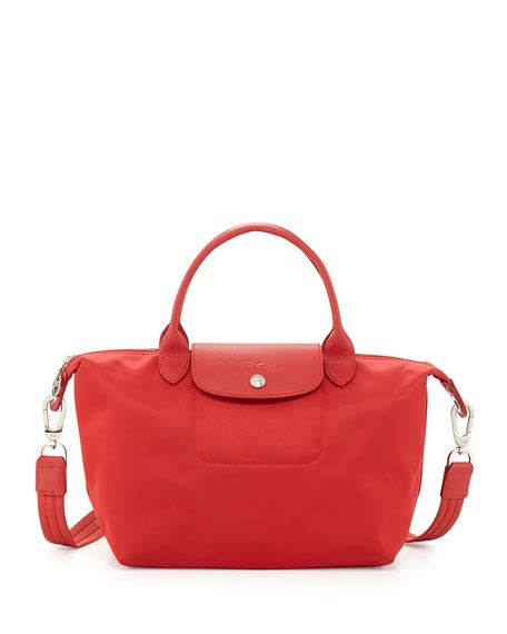 longch le pliage neo shoulder tote with poppy