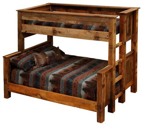 barnwood beds twin  full barnwood bunk beds rustic