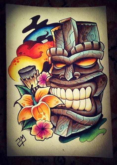 tiki tattoo designs 25 best ideas about tiki on tiki
