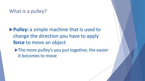 themes meaning and exle pulleys simple machines ppt video online download