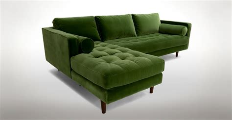 Green Sectional Sofa Furniture Modern And Contemporary Sofa Sectionals For Living Room Regarding Green Sectional