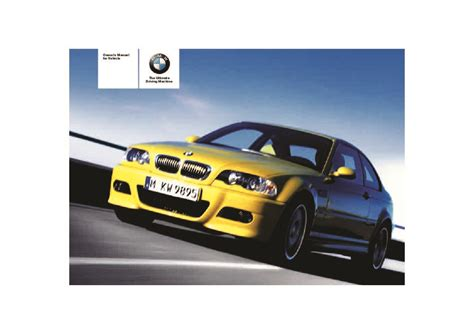 old car owners manuals 2005 bmw 3 series transmission control 2005 bmw 3 series m3 e46 coupe owners manual