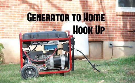 easy generator to home hook up 14 steps with pictures