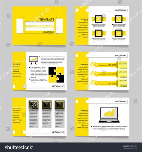 layout of presentation template vector illustration presentation slides set stock