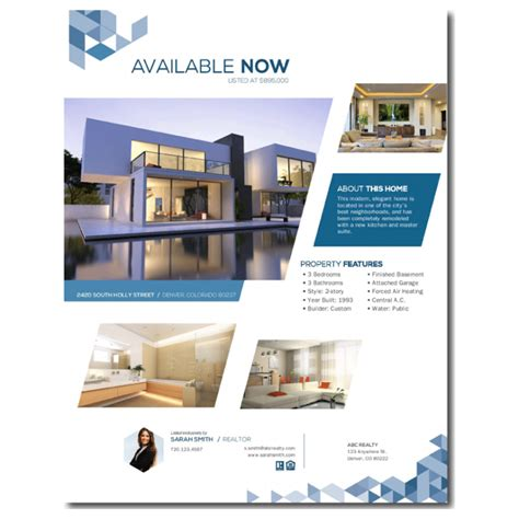 Real Estate Feature Sheet Template Free by Free Real Estate Templates