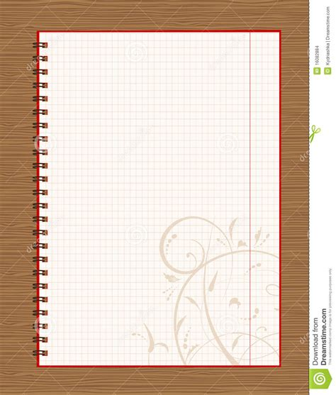 page design ideas notebook open page design on wooden background stock
