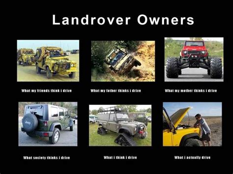 Kaos Jeep My Car Rule types of lr owners landrover
