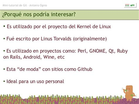 advanced git tutorial linus torvalds mini tutorial de git