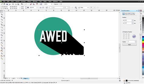 membuat gambar menjadi transparan di coreldraw cara membuat flat desain dan long shadow di corel draw