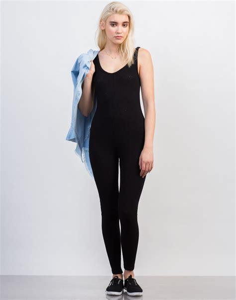 knit jumpsuit rib knit tank jumpsuit black onesie ribbed jumpsuit