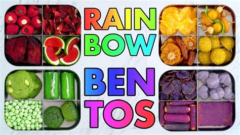 Inspiring Vegan Cooking Blogs by Rainbow Bento Snack Boxes Colorful Vegan Vegetarian