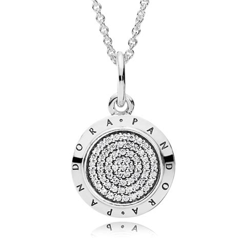 Pandora Cosmic With Clear Cz Necklace P 185 pandora necklaces jewelry