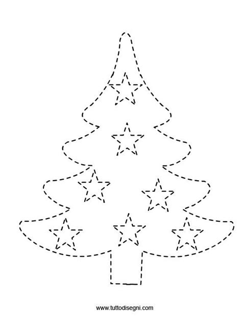 christmas tree tracing pattern crafts actvities and worksheets for preschool toddler and
