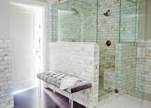 small master bathroom ideas shower only with marble tile