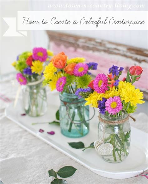 rainbow table centerpieces how to create a colorful centerpiece town country living