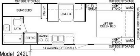 aljo travel trailer floor plans aljo model 242lt