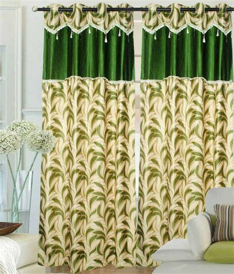 gold and green curtains hargunz set of 2 long door eyelet curtains floral green