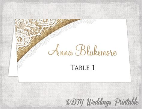 table cards template word rustic place cards template burlap lace diy