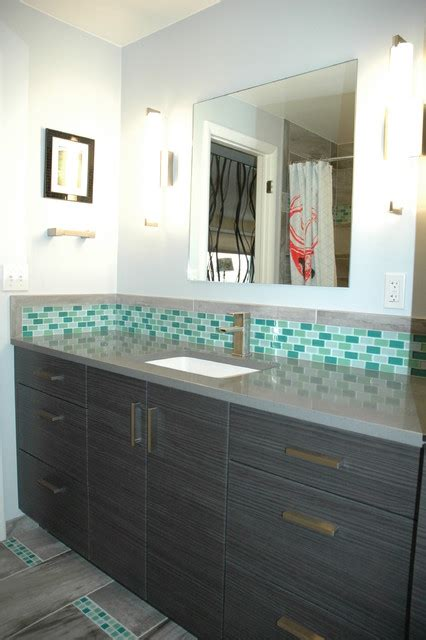 glass tile accents in bathroom 2nd bathroom green glass mosaic accent tile