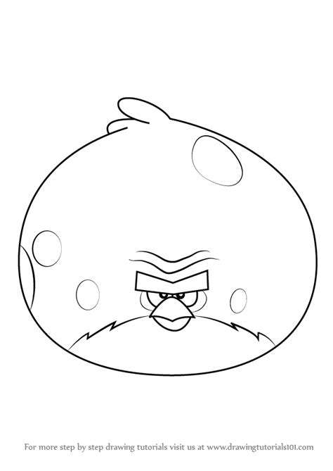 angry birds terence coloring pages learn how to draw terence from angry birds angry birds