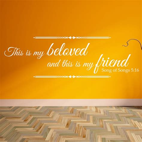This Is My Beloved this is my beloved and this is my friend wall decal