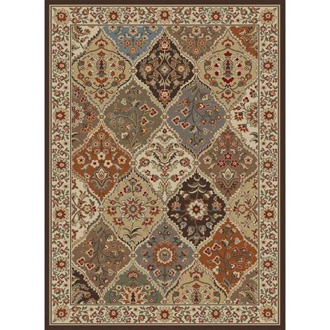 Tayse Rugs Elegance Multi 7 Ft 6 In X 9 Ft 10 In Area Rugs Home Depot