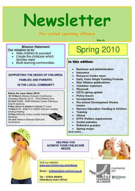 Preschool Newsletter Templates March Mayamokacomm Childcare Newsletter Templates Free