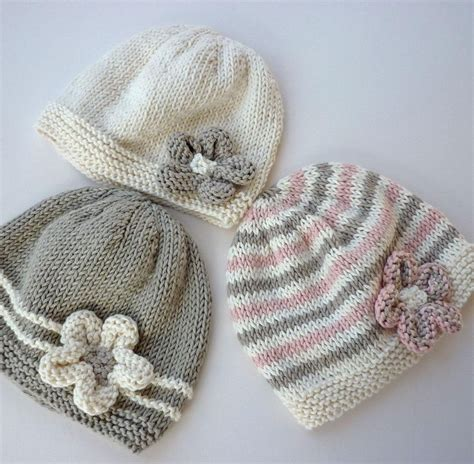 how to knit flowers for baby hat emilie baby hat color stripes knitted baby and baby hats