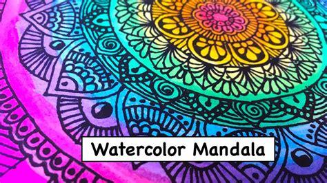 watercolor mandala tutorial watercolor mandala art drawing 2 youtube
