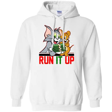 Tom Jerry Black And Grey Printed In Gildan Shirt tom and jerry run it up shirt hoodie tank allbluetees