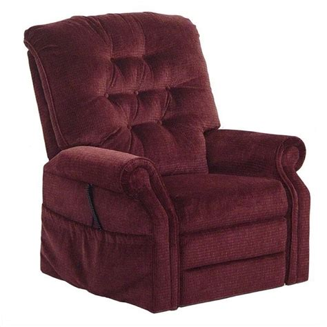 Oversize Recliner by Catnapper Patriot Power Lift Lay Out Oversized Recliner Chair In Vino 4824180040