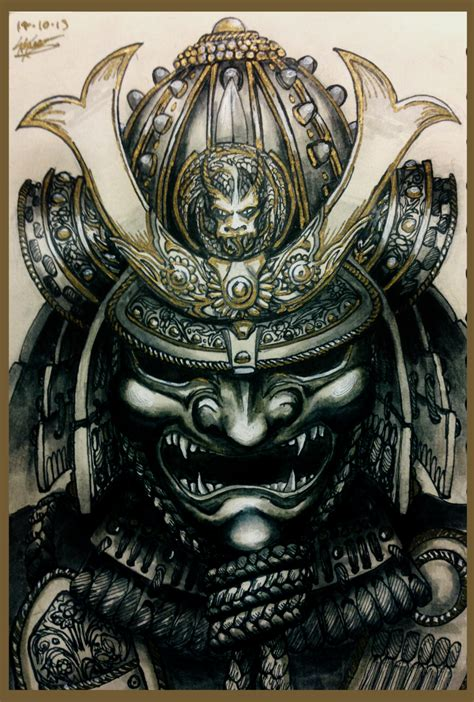 oni tattoo jepang kabuto by hostilesynth deviantart com on deviantart