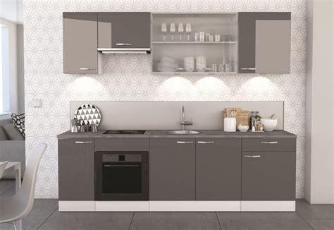 cuisine cach馥 par des portes meuble bas de cuisine contemporain 2 portes blanc mat gris