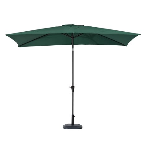 Patio Umbrella Green Outsunny 6 5 X 10 Market Rectangle Patio Umbrella W Tilt And Crank Green St