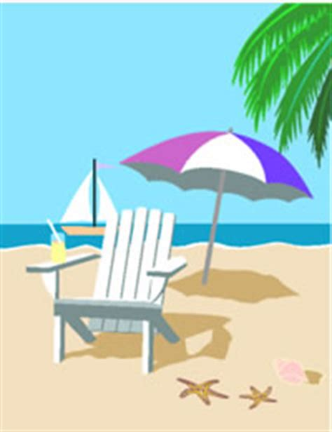 printable beach postcards printable tropical beach chair greeting card