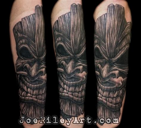 tiki tattoo by joe riley tattoonow