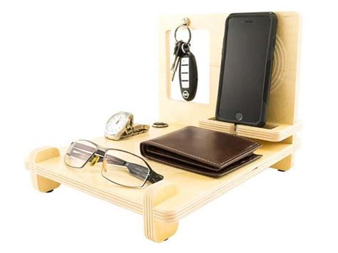 cool desk organizer the handmade wood desk organizer with iphone 6