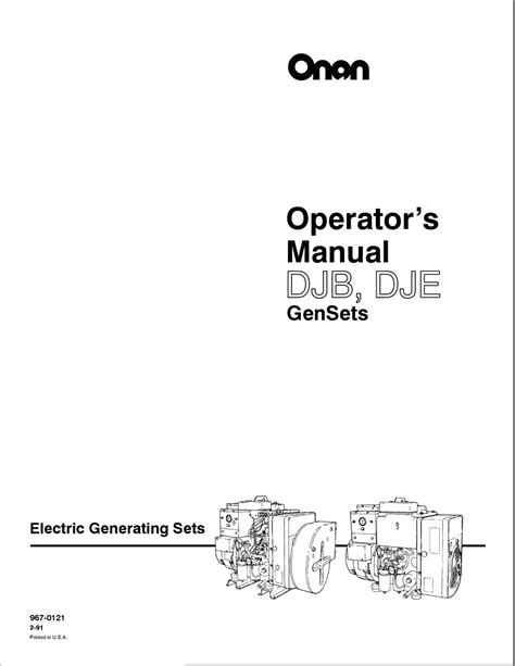 ONAN DJB OPERATOR'S MANUAL Pdf Download | ManualsLib