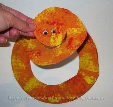 Paper Plate Snake Craft - paper plate snake teaching bible