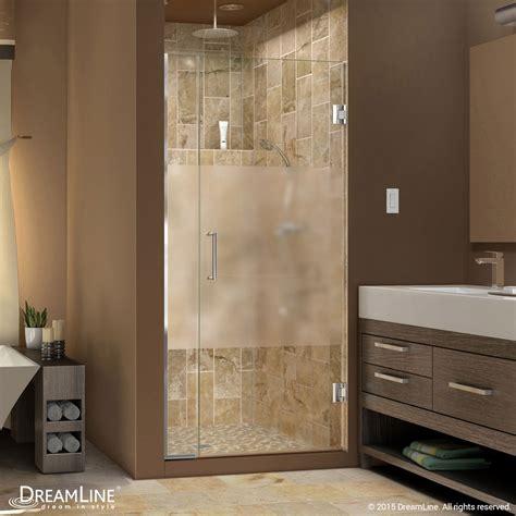 half glass shower door for bathtub unidoor plus half frosted glass shower door